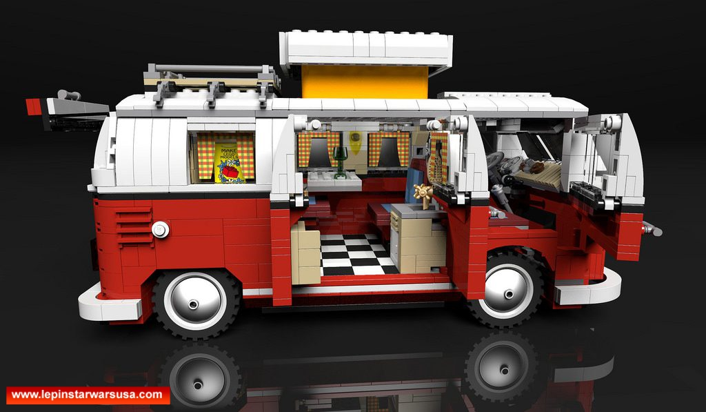 Review LEPIN 21001 Volkswagen T1 Camper Van Competable with LEGO 10220