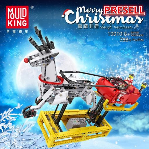 ™MOULDKING 10010 Merry Christmas Sleigh Reindeer